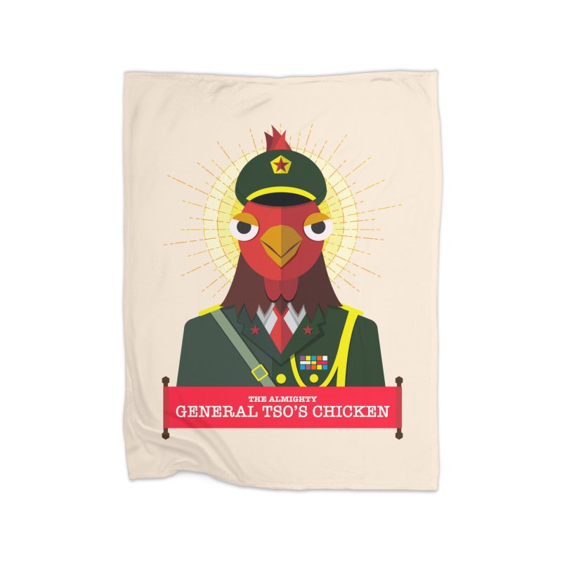 The Almighty General Tso's Chicken Home Fleece Blanket Blanket by Sidewise Clothing & Design