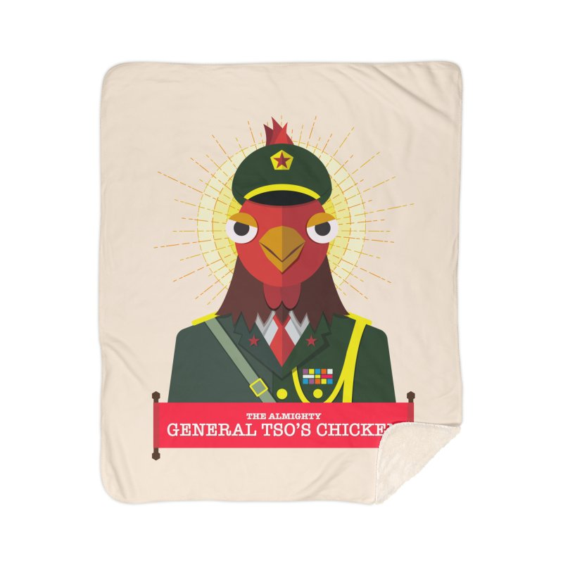 The Almighty General Tso's Chicken Home Sherpa Blanket Blanket by Sidewise Clothing & Design