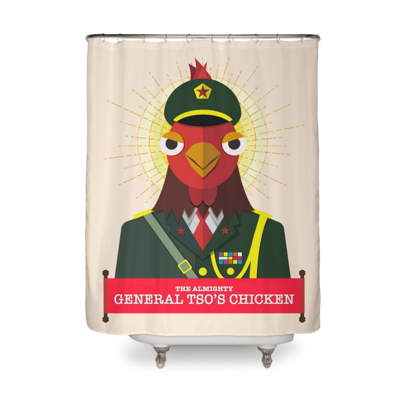 The Almighty General Tso's Chicken Home Shower Curtain by Sidewise Clothing & Design