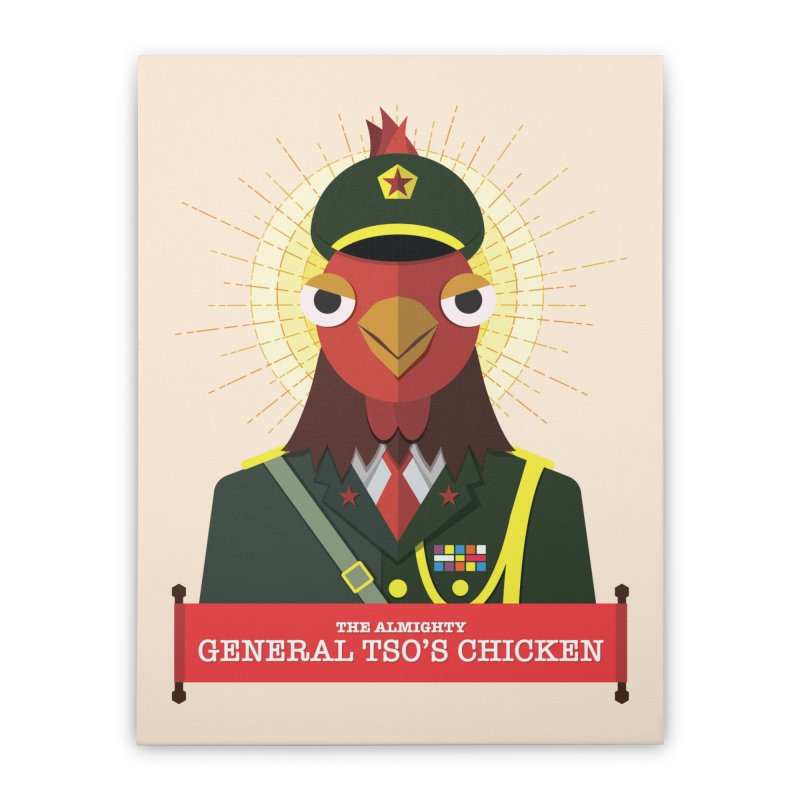 The Almighty General Tso's Chicken Home Stretched Canvas by Sidewise Clothing & Design