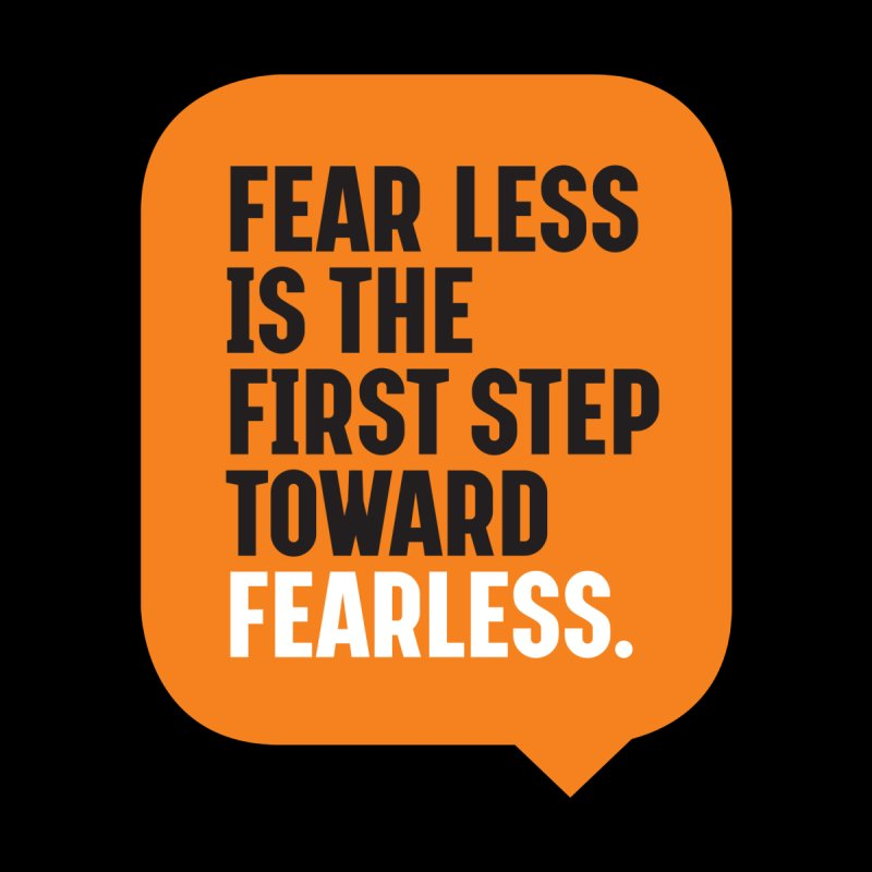FEAR LESS IS THE FIRST STEP TOWARD FEARLESS – MOTIVATIONAL & INSPIRATIONAL QUOTES Accessories Notebook by Sidewise Clothing & Design