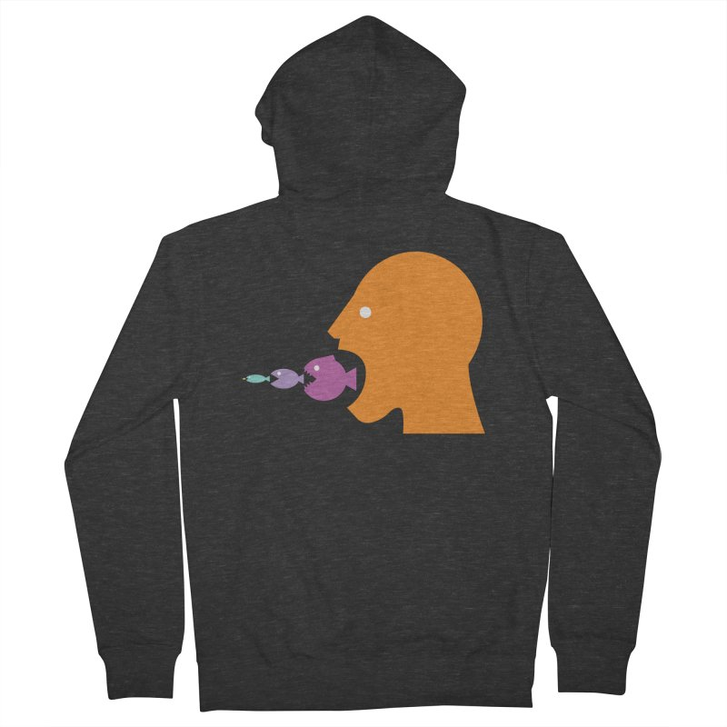 The Survival of the Fittest – Food Chain Edition. Women's French Terry Zip-Up Hoody by Sidewise Clothing & Design