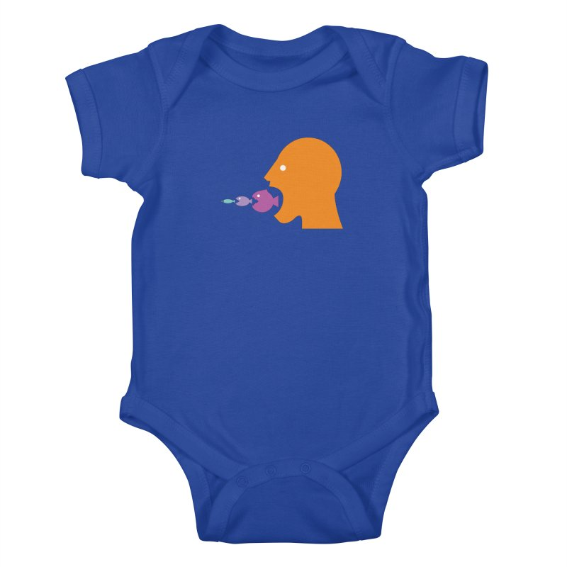The Survival of the Fittest – Food Chain Edition. Kids Baby Bodysuit by Sidewise Clothing & Design