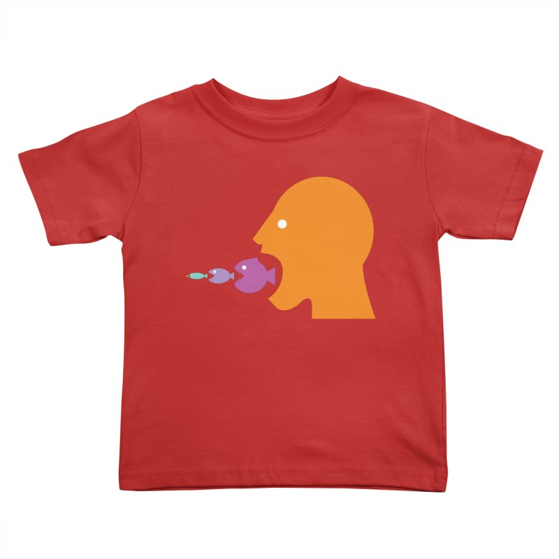The Survival of the Fittest – Food Chain Edition. Kids Toddler T-Shirt by Sidewise Clothing & Design