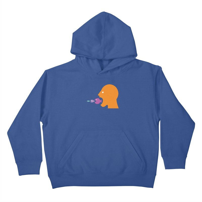 The Survival of the Fittest – Food Chain Edition. Kids Pullover Hoody by Sidewise Clothing & Design