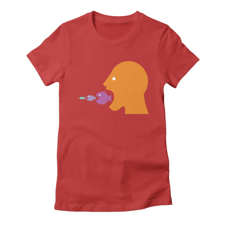 The Survival of the Fittest – Food Chain Edition. Women's Fitted T-Shirt by Sidewise Clothing & Design
