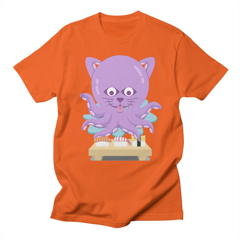 NekoTako, the Cat Wannabe Octopus, Loves Sushi. Women's T-Shirt by Sidewise Clothing & Design