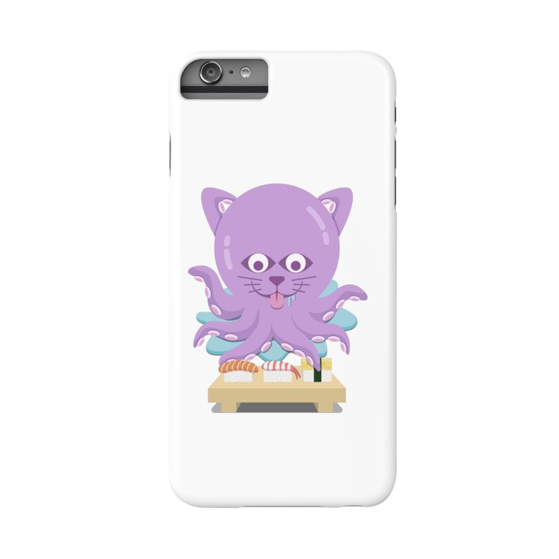 NekoTako, the Cat Wannabe Octopus, Loves Sushi. Accessories Phone Case by Sidewise Clothing & Design