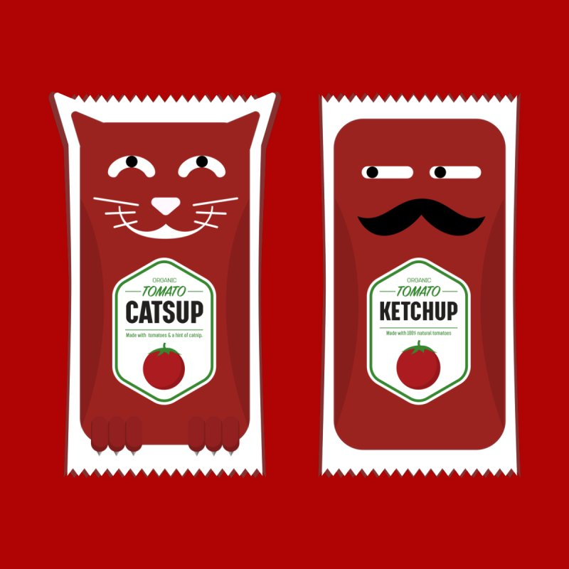 Catsup vs Ketchup Men's T-Shirt by Sidewise Clothing & Design