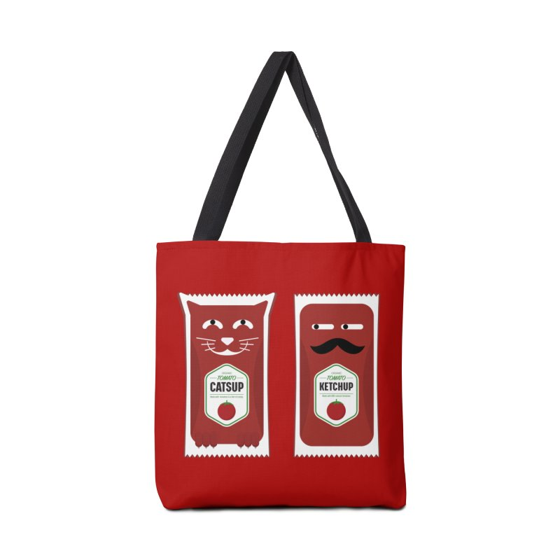 Catsup vs Ketchup Accessories Bag by Sidewise Clothing & Design