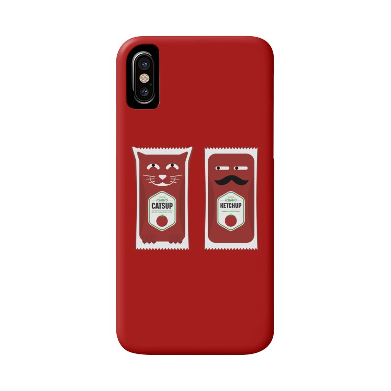 Catsup vs Ketchup Accessories Phone Case by Sidewise Clothing & Design