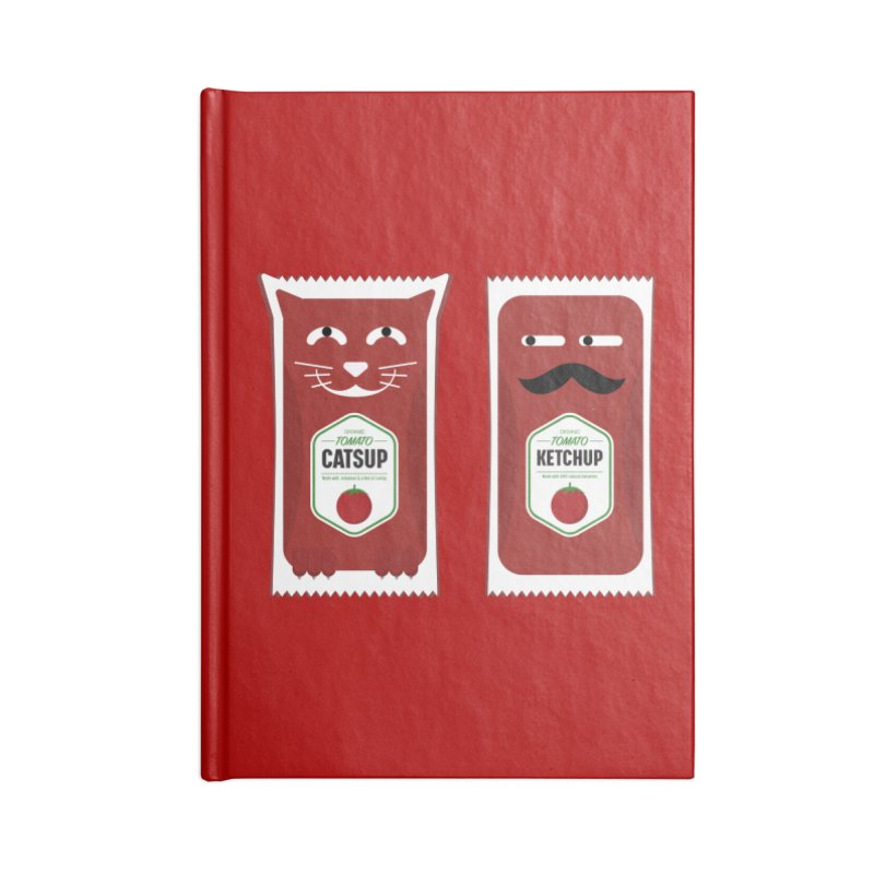 Catsup vs Ketchup Accessories Blank Journal Notebook by Sidewise Clothing & Design