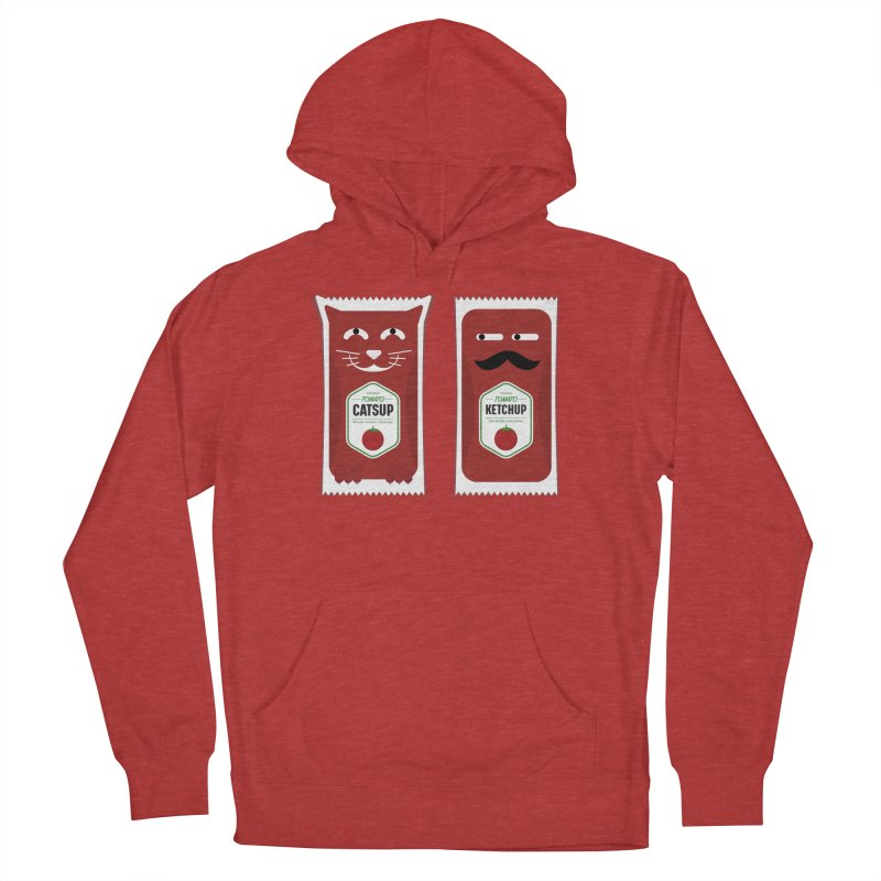 Catsup vs Ketchup Men's French Terry Pullover Hoody by Sidewise Clothing & Design