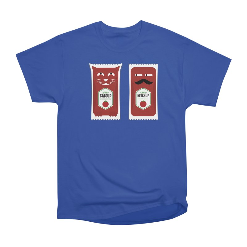 Catsup vs Ketchup Men's Heavyweight T-Shirt by Sidewise Clothing & Design
