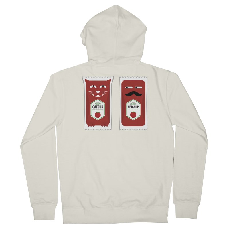 Catsup vs Ketchup Women's French Terry Zip-Up Hoody by Sidewise Clothing & Design
