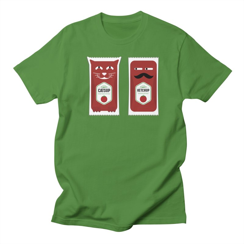 Catsup vs Ketchup Men's Regular T-Shirt by Sidewise Clothing & Design