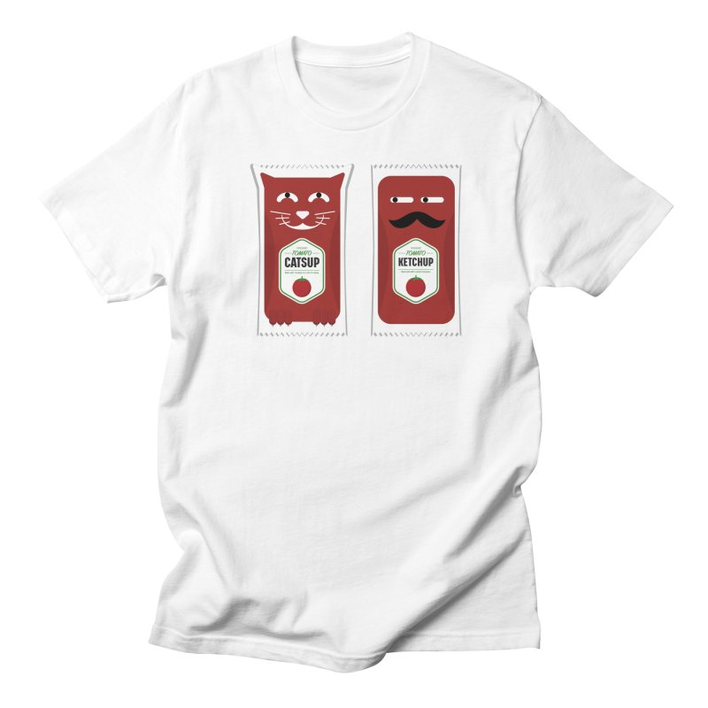 Catsup vs Ketchup Women's Regular Unisex T-Shirt by Sidewise Clothing & Design