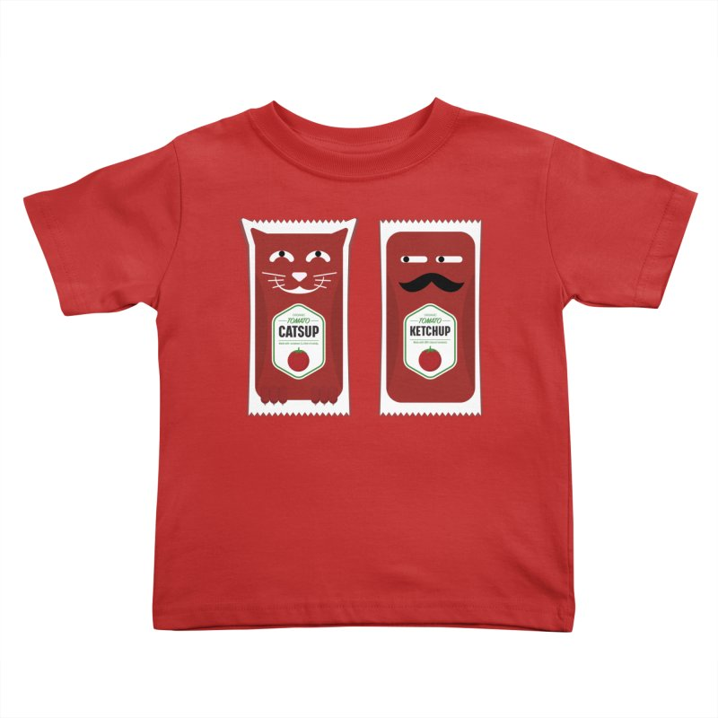 Catsup vs Ketchup Kids Toddler T-Shirt by Sidewise Clothing & Design