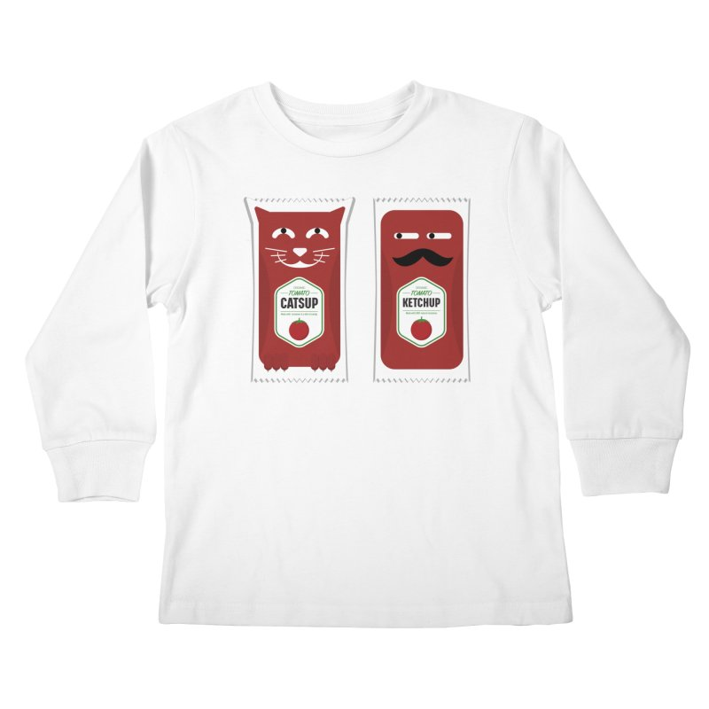 Catsup vs Ketchup Kids Longsleeve T-Shirt by Sidewise Clothing & Design