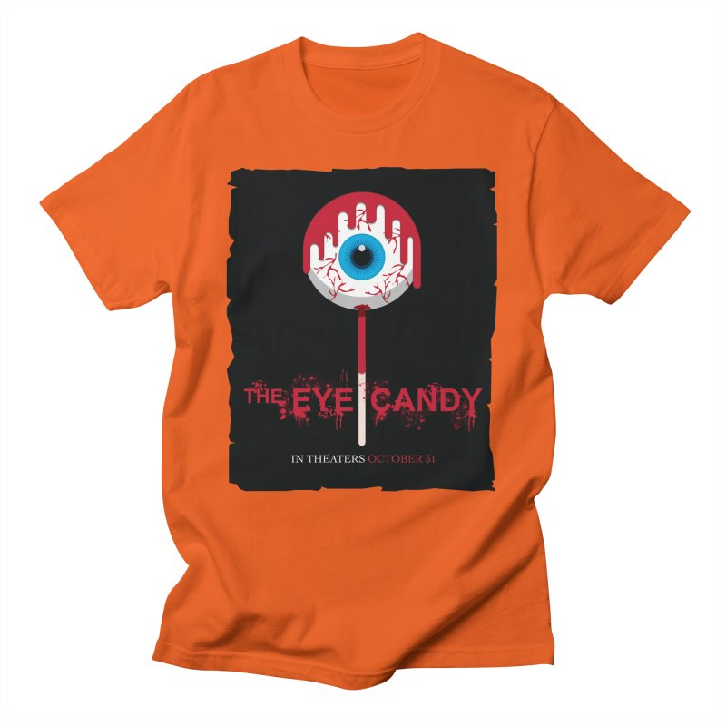 Halloween Movie Poster Parody – The Eye Candy Men's T-Shirt by Sidewise Clothing & Design