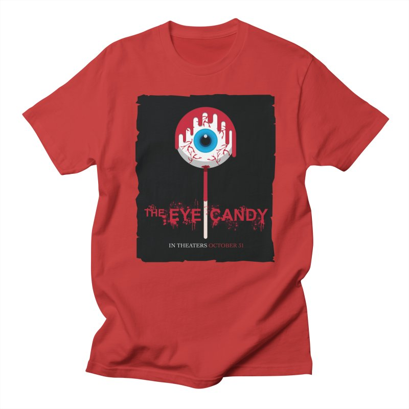 Halloween Movie Poster Parody – The Eye Candy in Men's Regular T-Shirt Red by Sidewise Clothing & Design
