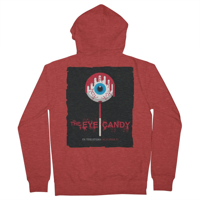 Halloween Movie Poster Parody – The Eye Candy Women's French Terry Zip-Up Hoody by Sidewise Clothing & Design