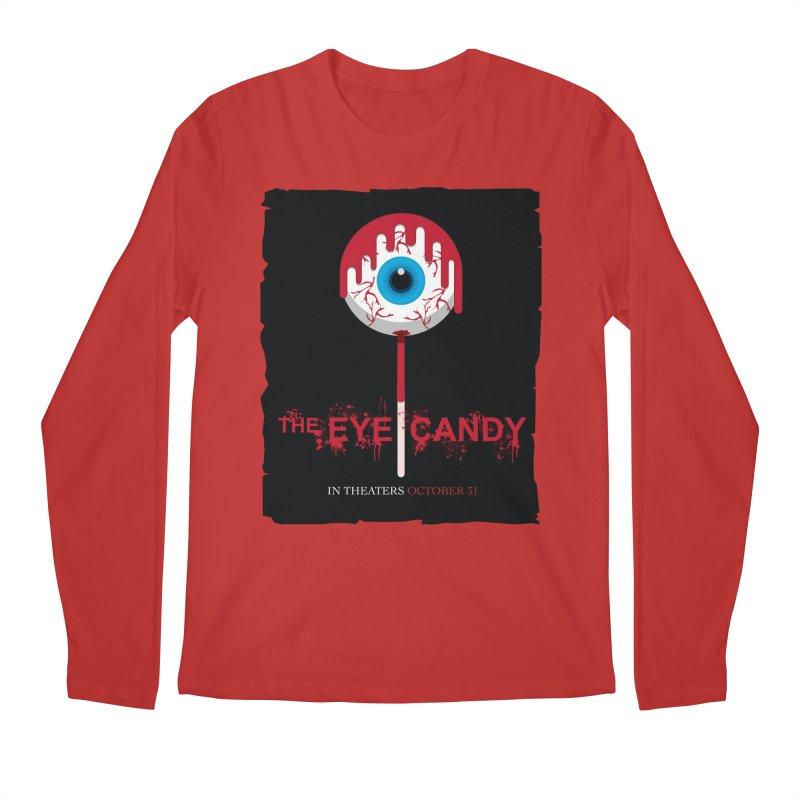 Halloween Movie Poster Parody – The Eye Candy Men's Regular Longsleeve T-Shirt by Sidewise Clothing & Design