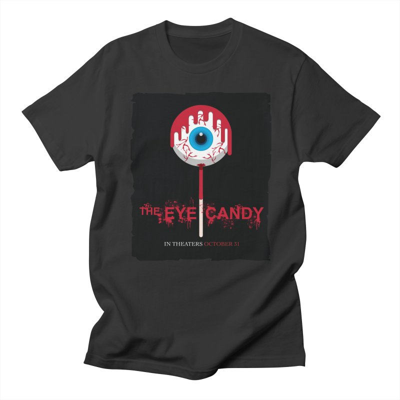 Halloween Movie Poster Parody – The Eye Candy Men's Regular T-Shirt by Sidewise Clothing & Design