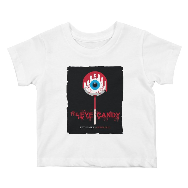 Halloween Movie Poster Parody – The Eye Candy Kids Baby T-Shirt by Sidewise Clothing & Design