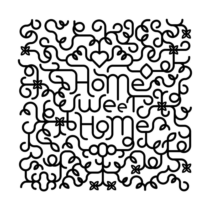 Home Sweet Home Typography Home Stretched Canvas by Sidewise Clothing & Design