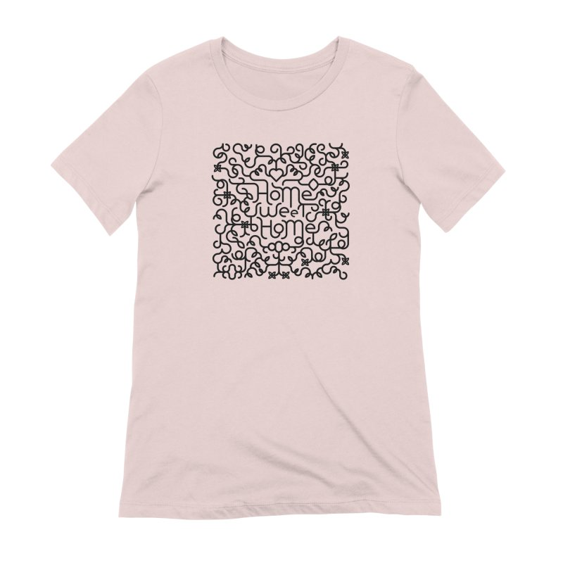 Home Sweet Home Typography Women's Extra Soft T-Shirt by Sidewise Clothing & Design