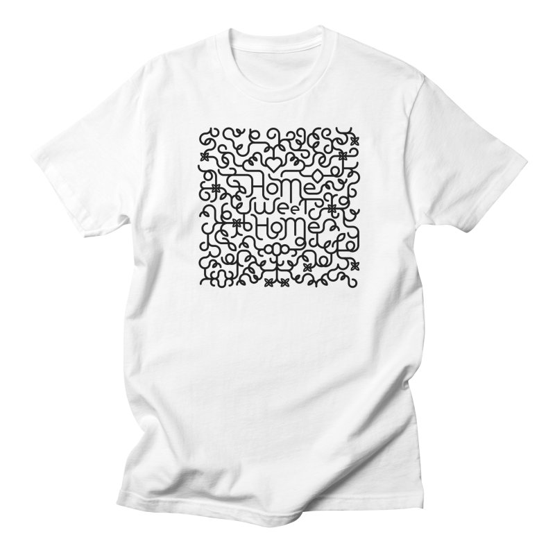 Home Sweet Home Typography Men's T-Shirt by Sidewise Clothing & Design