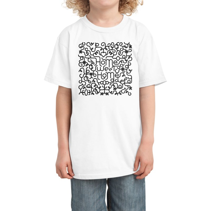 Home Sweet Home Typography Kids T-Shirt by Sidewise Clothing & Design