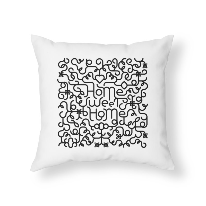 Home Sweet Home Typography Home Throw Pillow by Sidewise Clothing & Design