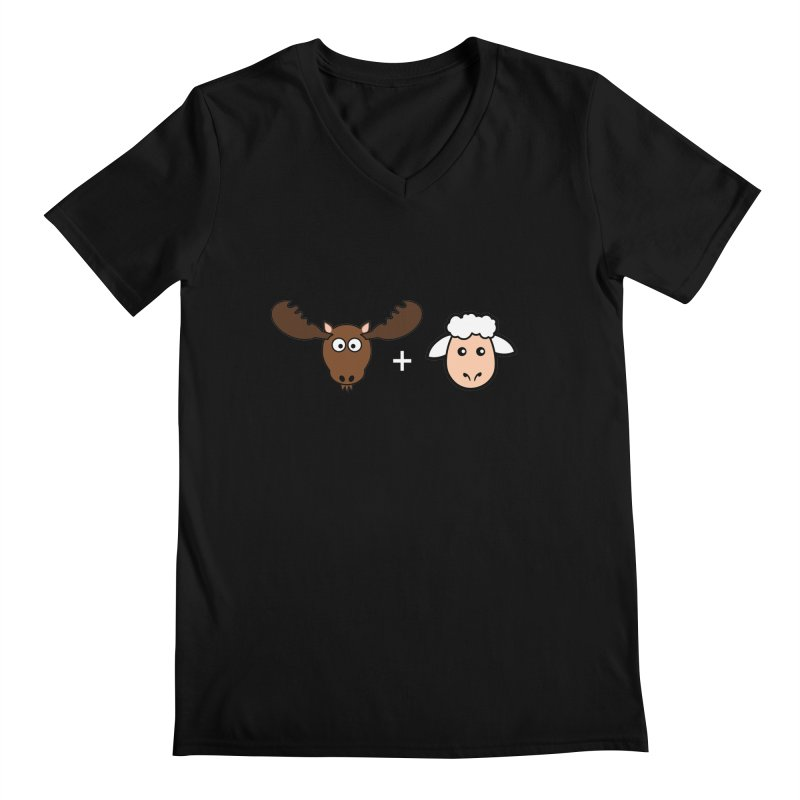 Moose + Lamb Men's Regular V-Neck by sidroos's store