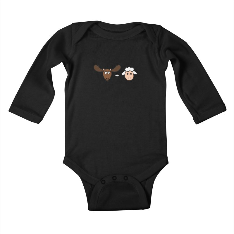 Moose + Lamb Kids Baby Longsleeve Bodysuit by sidroos's store