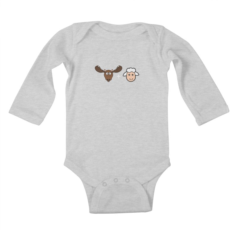 Moose + Lamb Kids Baby Longsleeve Bodysuit by sidroos's store