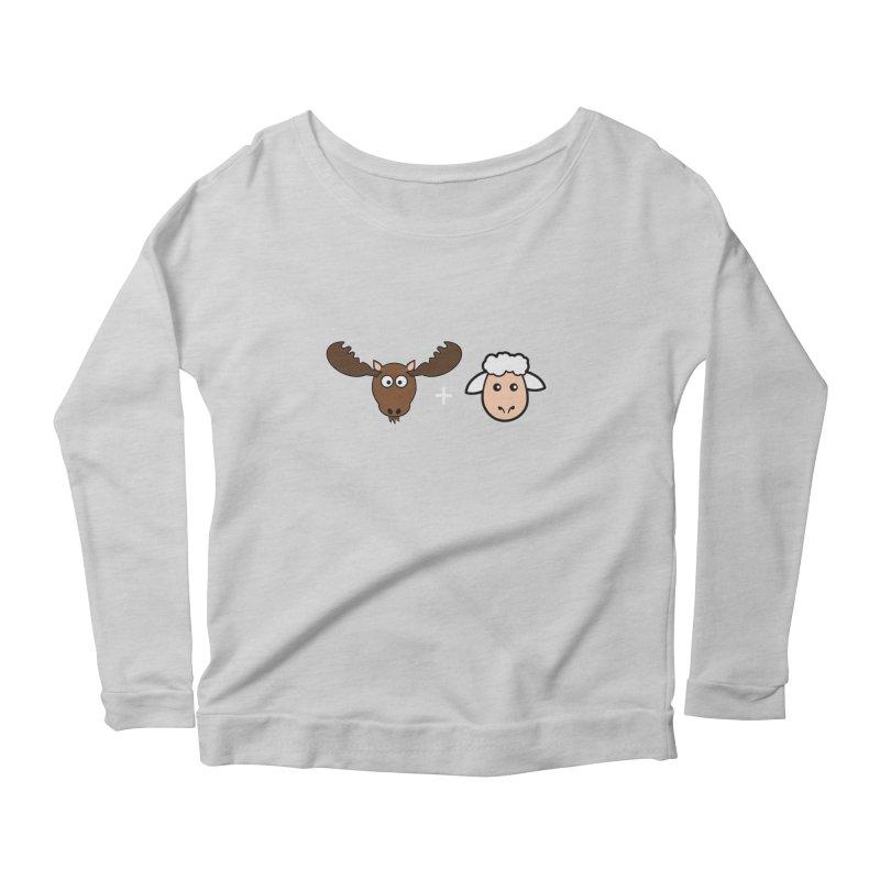Moose + Lamb Women's Longsleeve Scoopneck  by sidroos's store
