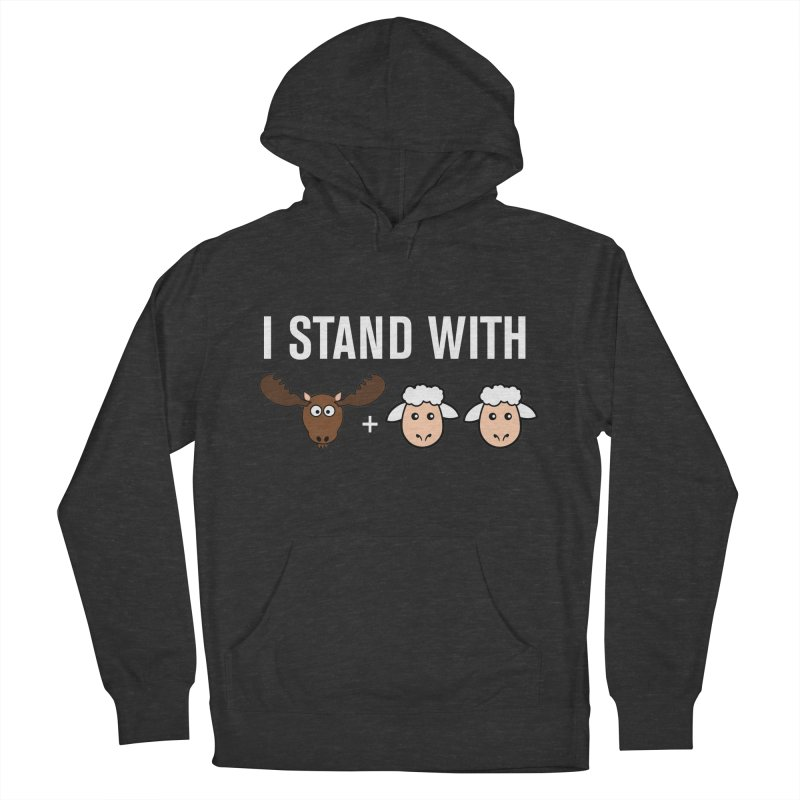 I STAND WITH MOOSE LAMBS Men's Pullover Hoody by sidroos's store