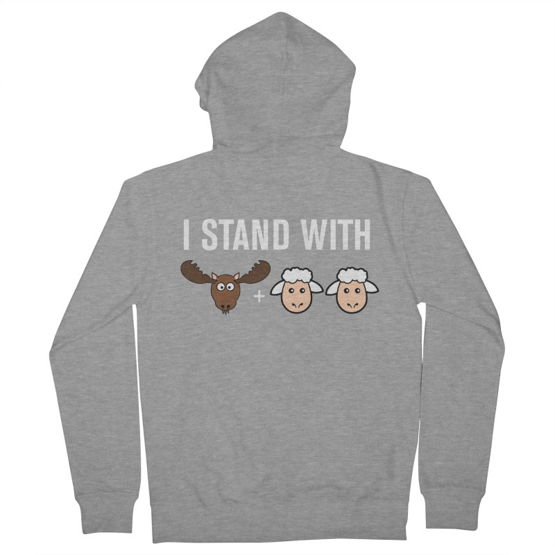 I STAND WITH MOOSE LAMBS Women's Zip-Up Hoody by sidroos's store