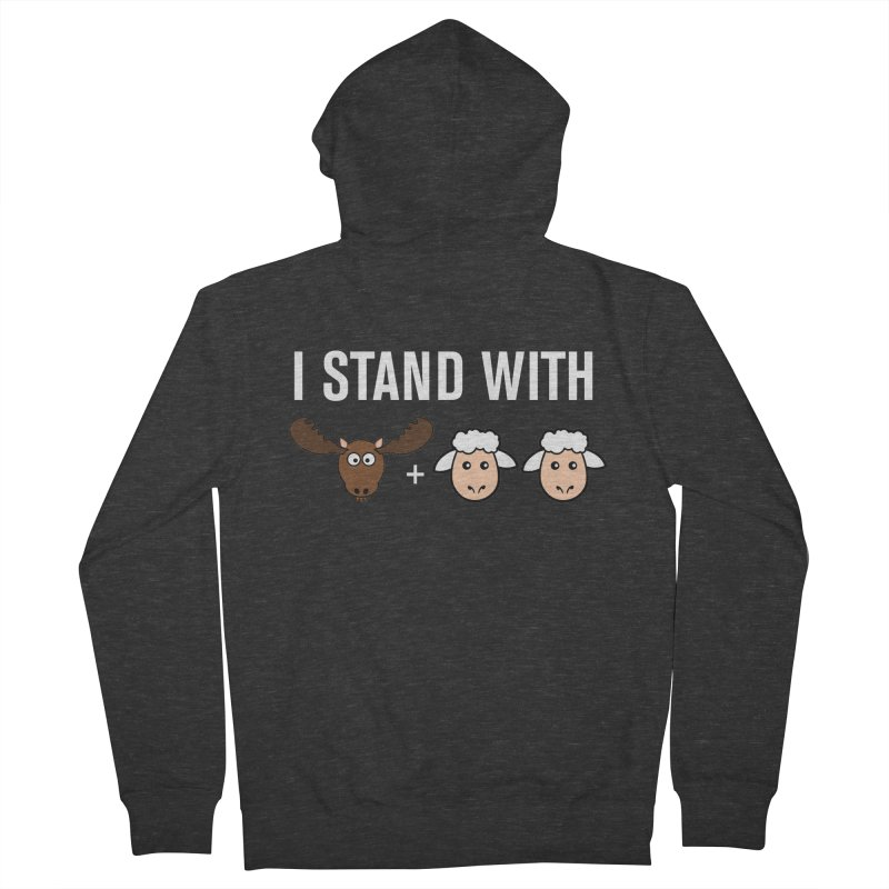 I STAND WITH MOOSE LAMBS Men's Zip-Up Hoody by sidroos's store