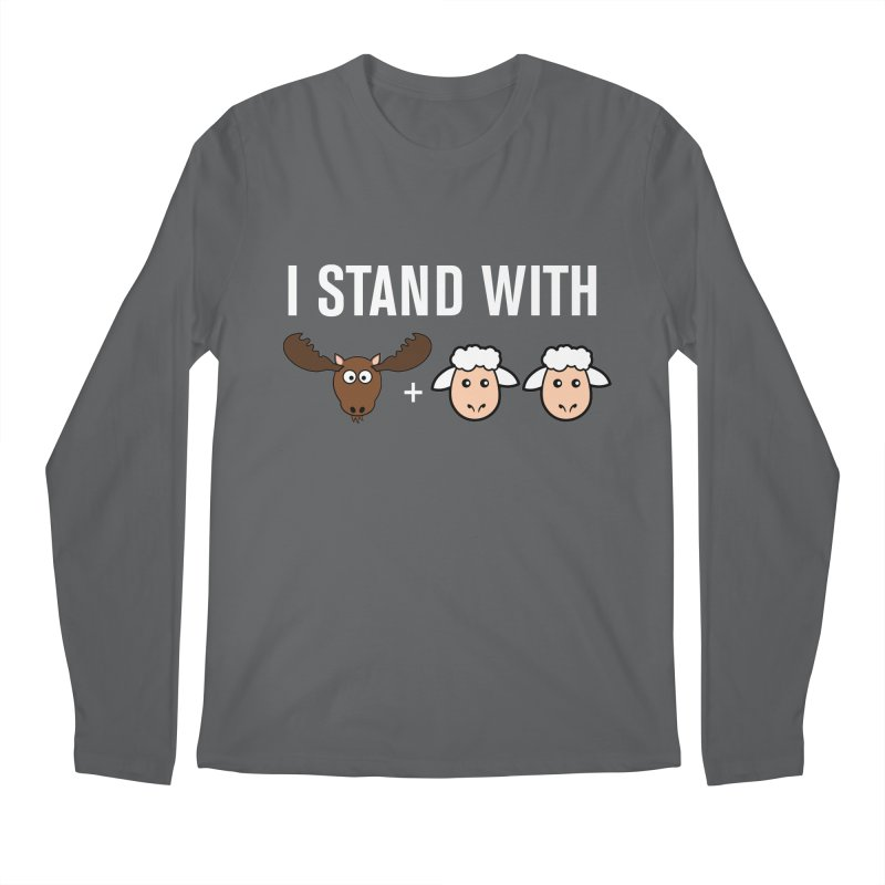I STAND WITH MOOSE LAMBS Men's Longsleeve T-Shirt by sidroos's store