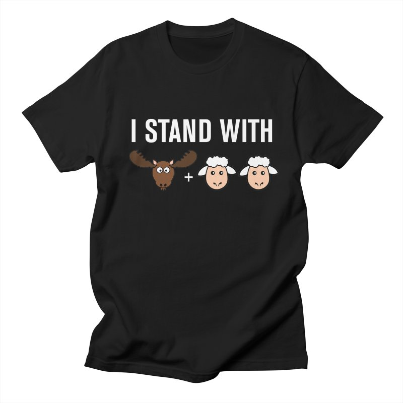 I STAND WITH MOOSE LAMBS Men's T-Shirt by sidroos's store