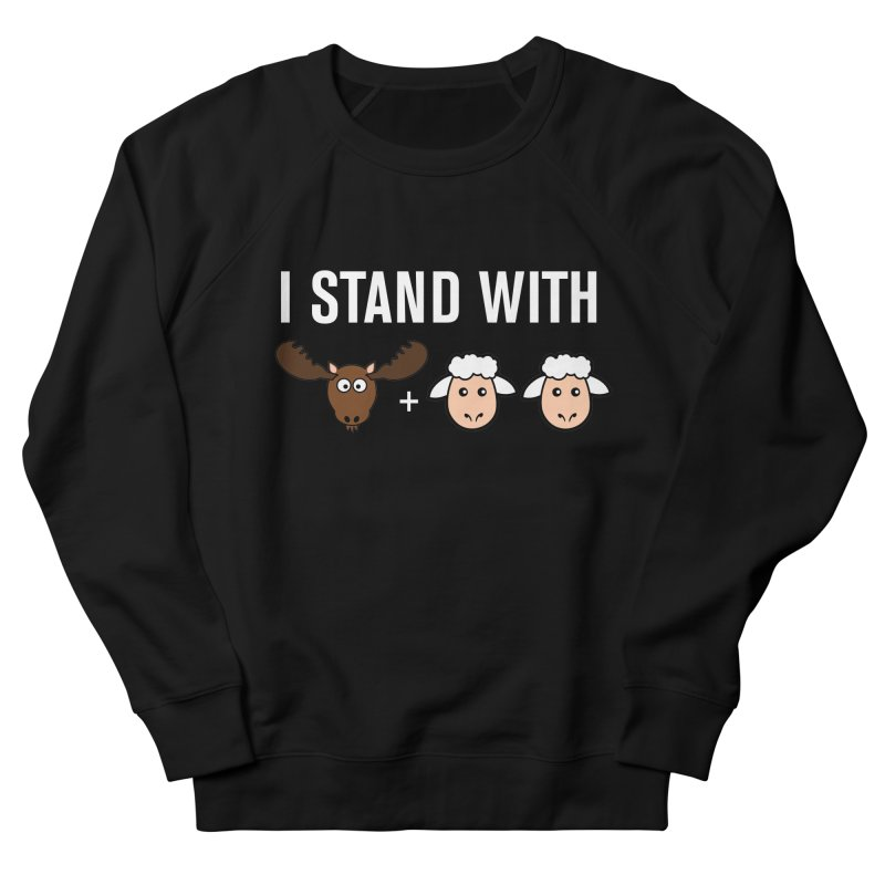 I STAND WITH MOOSE LAMBS Men's Sweatshirt by sidroos's store