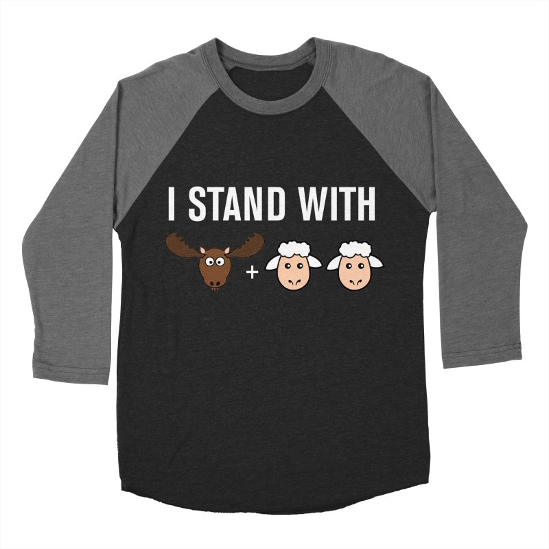 I STAND WITH MOOSE LAMBS Men's Baseball Triblend T-Shirt by sidroos's store