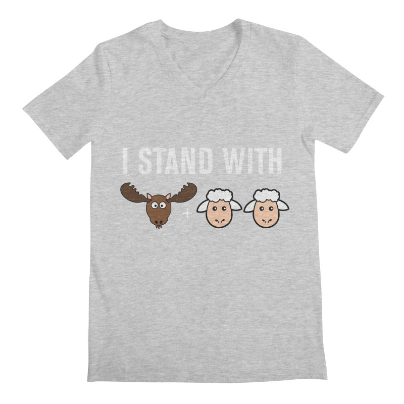 I STAND WITH MOOSE LAMBS Men's V-Neck by sidroos's store