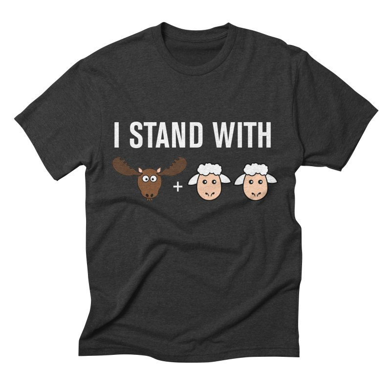 I STAND WITH MOOSE LAMBS Men's Triblend T-shirt by sidroos's store