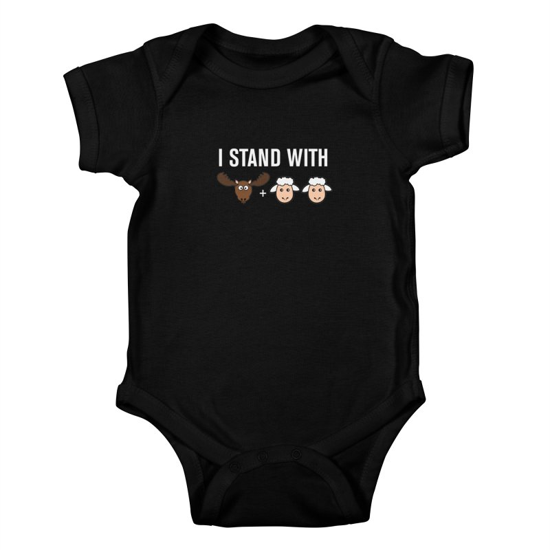 I STAND WITH MOOSE LAMBS Kids Baby Bodysuit by sidroos's store