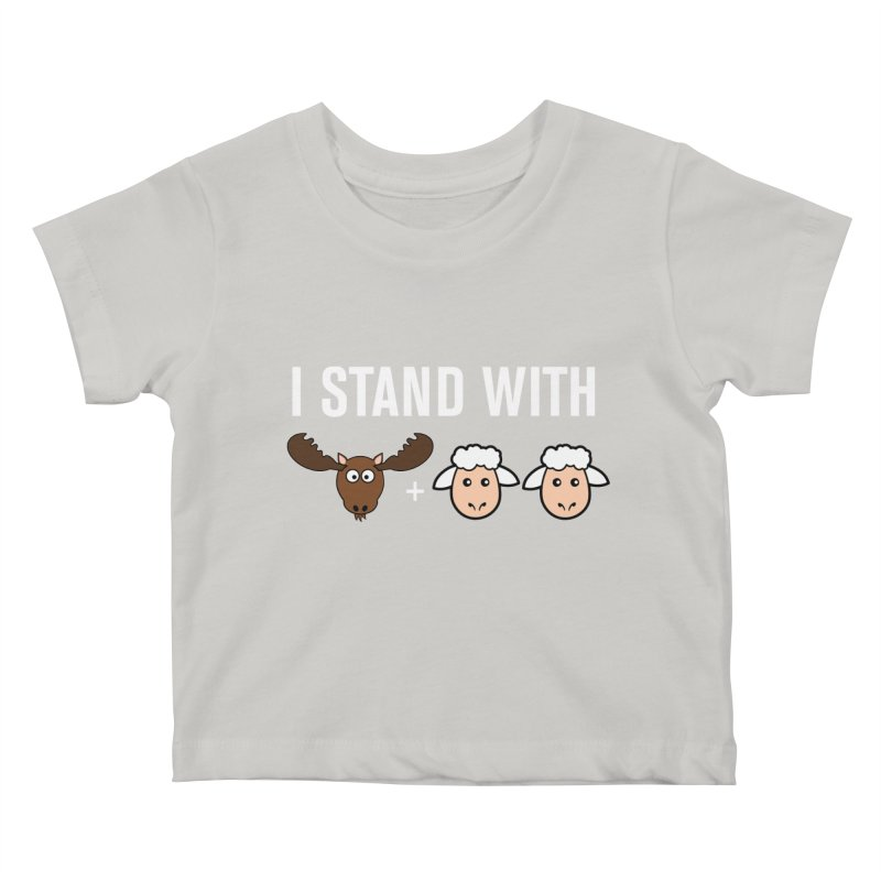I STAND WITH MOOSE LAMBS Kids Baby T-Shirt by sidroos's store