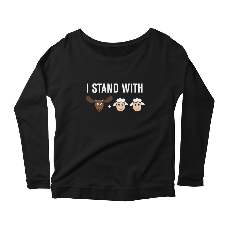 I STAND WITH MOOSE LAMBS Women's Longsleeve Scoopneck  by sidroos's store